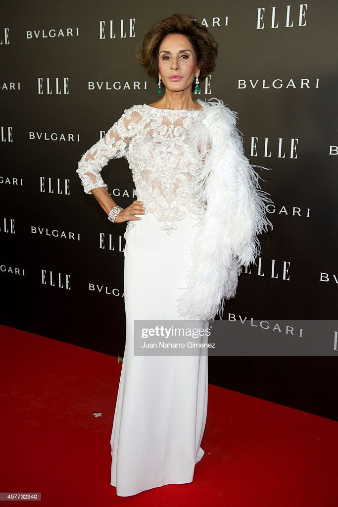 Nati Abascal attends 'Elle Style Awards 2014' photocall at Italian Embassy on October 23, 2014 in Madrid, Spain.