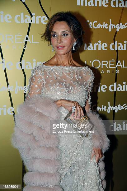 Nati Abascal attends Marie Claire Prix de la Moda awards 2011 at the French Embassy on November 17 2011 in Madrid Spain