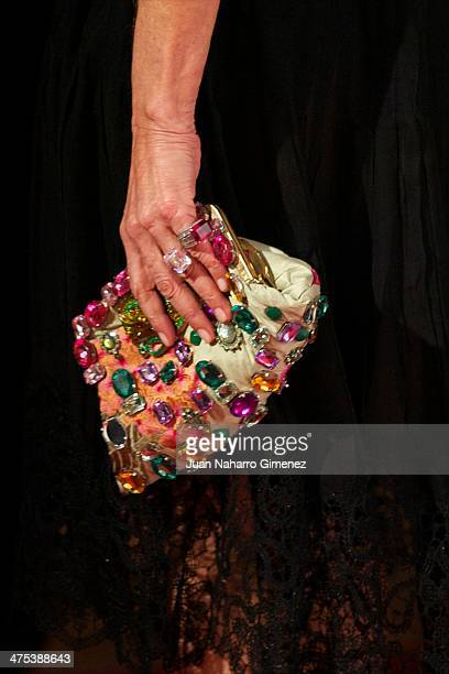 Nati Abascal attends the AD Awards 2014 at the Santa Coloma Palace on February 27 2014 in Madrid Spain