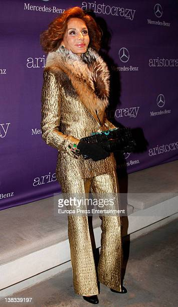 Nati Abascal attends the Aristocrazy party during MercedesBenz Fashion Week Madrid A/W 2012 on February 3 2012 in Madrid Spain