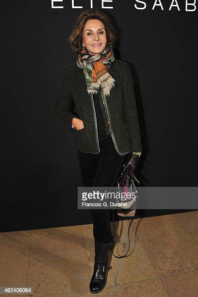 Nati Abascal attends the Elie Saab show as part of Paris Fashion Week Haute Couture Spring/Summer 2015 on January 28 2015 in Paris France