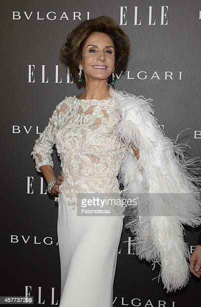 Nati Abascal attends the Elle Style Awards party at the Italian Embassy on October 23 2014 in Madrid Spain