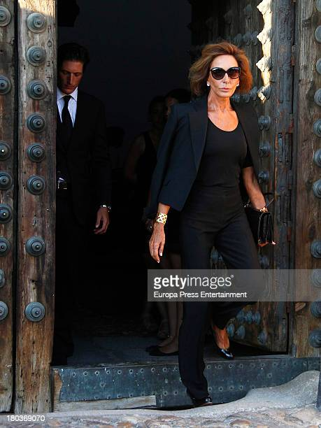 Nati Abascal attends the funeral for countess of Medinaceli Victoria Eugenia Fernandez de Cordoba y Fernandez de Henestrosa at Casa de Pilatos on...