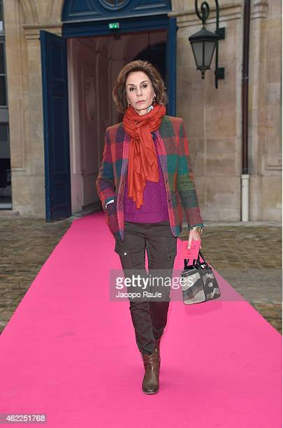 Nati Abascal attends the Schiaparelli show as part of Paris Fashion Week Haute Couture Spring/Summer 2015 on January 26 2015 in Paris France