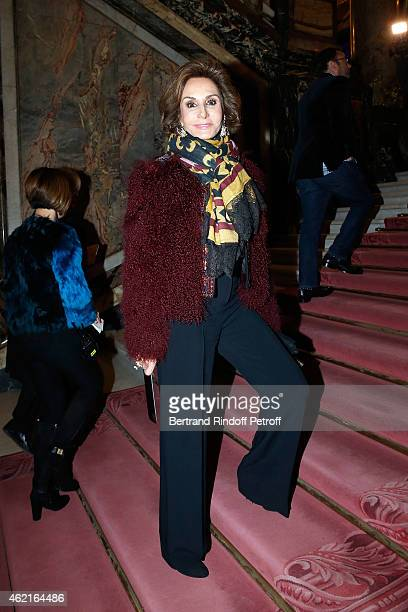 Nati Abascal attends the Versace show as part of Paris Fashion Week Haute Couture Spring/Summer 2015 on January 25 2015 in Paris France