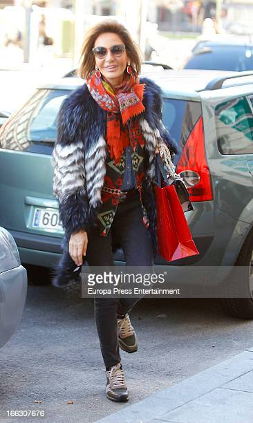Nati Abascal is seen on March 15 2013 in Madrid Spain