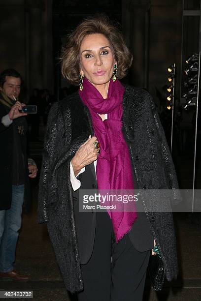 Nati Abascal leaves the Valentino show as part of Paris Fashion Week Haute Couture Spring/Summer 2015 on January 28 2015 in Paris France