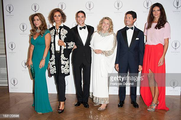 Nati Abascal Matteo Marzotto and Marta Marzotto pose during the 'Maison Vionnet' 100th Anniversary as part of Paris Fashion Week Womenswear Spring /...