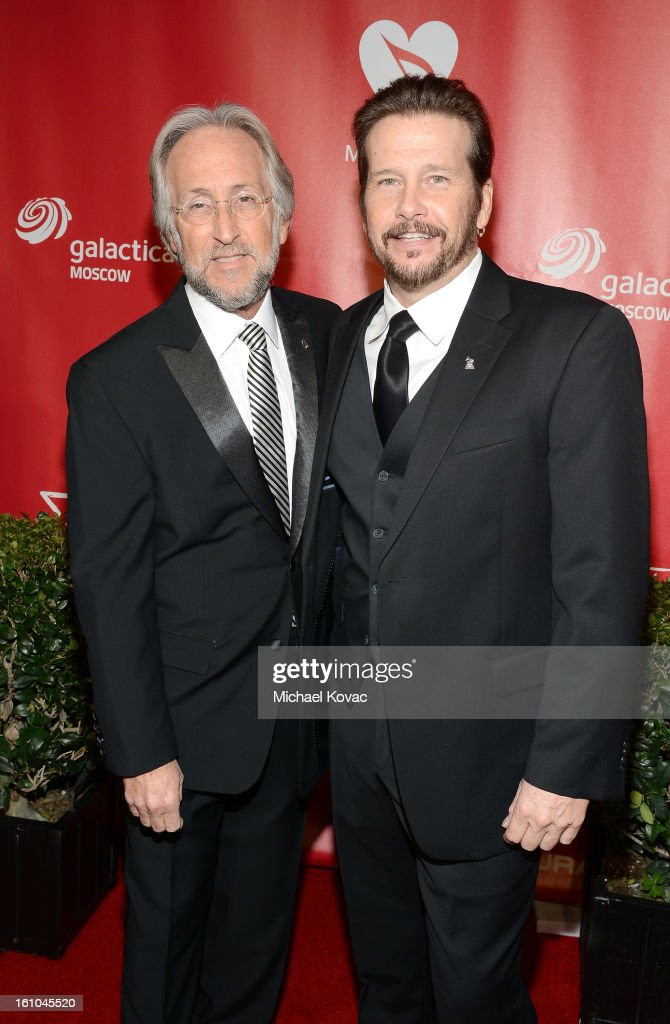 National Academy of Recording Arts and Sciences President Neil Portnow (L) and Recording Academy Chairperson of the Board George Flanigan attend MusiCares Person Of The Year Honoring Bruce Springsteen at the Los Angeles Convention Center on February 8, 2013 in Los Angeles, California.