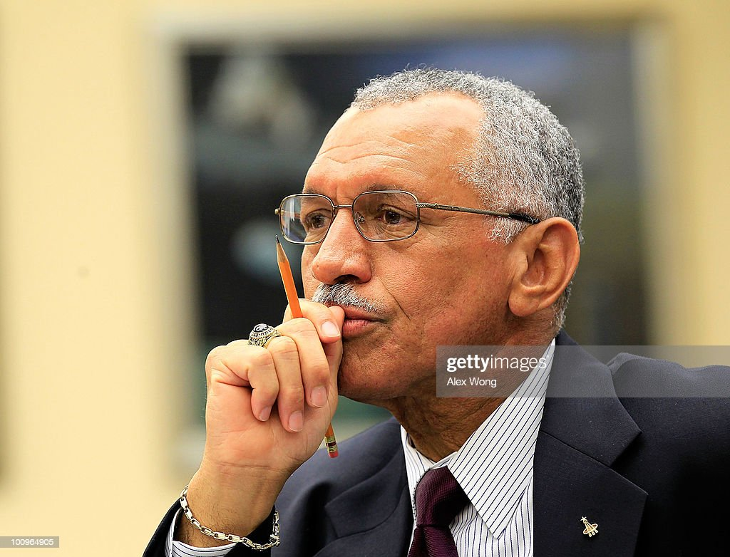 National Aeronautics and Space Administration (NASA) Administrator Charles Bolden testifies during a hearing before the House Science and Technology Committee May 26, 2010 on Capitol Hill in Washington, DC. The hearing was to review proposed human spaceflight plan by NASA.