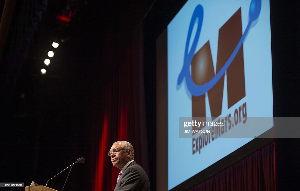 National Aeronautics and Space Administration (NASA) Administrator Charles Bolden delivers remarks at the opening of the 'Human 2 Mars Summit' at George Washington University in Washington, DC, May 6, 2013. AFP PHOTO/JIM WATSON
