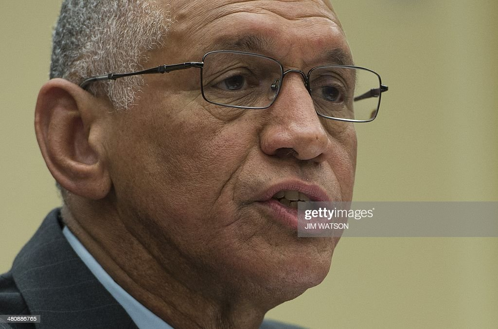 National Aeronautics and Space Administration (NASA) Administrator <a gi-track='captionPersonalityLinkClicked' href=/galleries/search?phrase=Charles+Bolden+-+Administrador+de+la+NASA&family=editorial&specificpeople=15164541 ng-click='$event.stopPropagation()'>Charles Bolden</a> testifies before the House Space Subcommittee reviewing the FY 2015 budget for the NASA on Capitol Hill in Washington, DC, March 27, 2014. AFP PHOTO / Jim WATSON