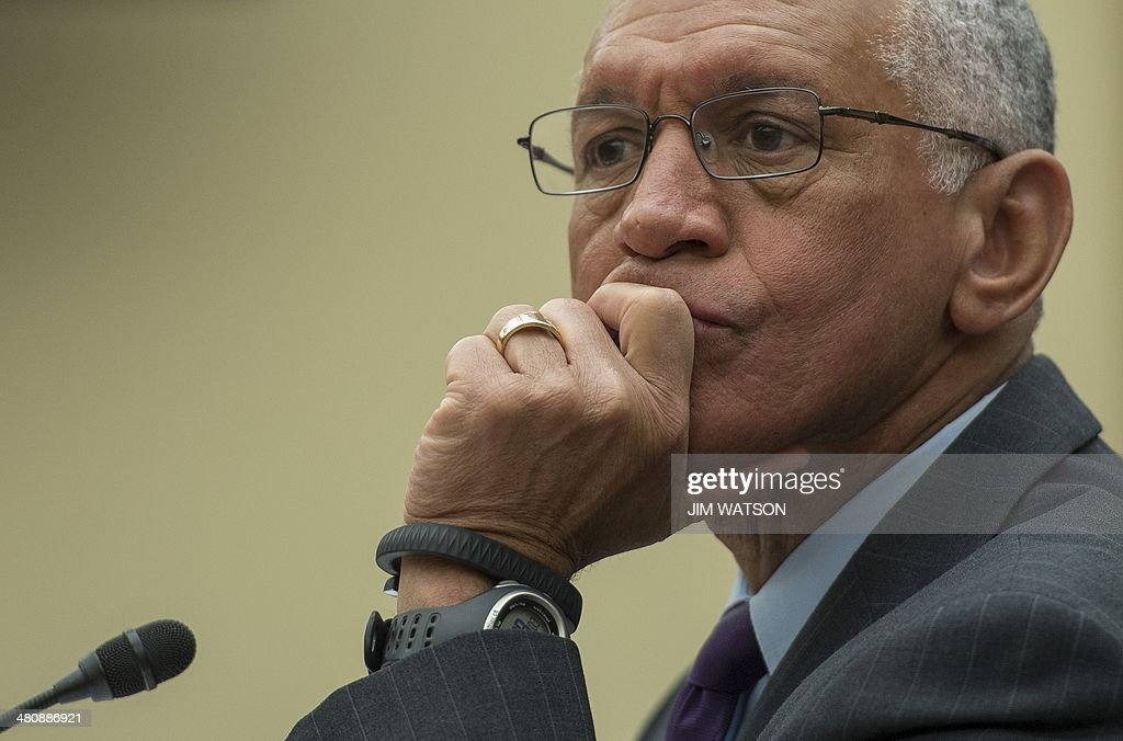 National Aeronautics and Space Administration (NASA) Administrator <a gi-track='captionPersonalityLinkClicked' href=/galleries/search?phrase=Charles+Bolden+-+NASA+Administrator&family=editorial&specificpeople=15164541 ng-click='$event.stopPropagation()'>Charles Bolden</a> testifies before the House Space Subcommittee reviewing the FY 2015 budget for the NASA on Capitol Hill in Washington, DC, March 27, 2014. AFP PHOTO / Jim WATSON