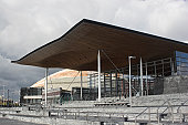 Welsh national assembly and debating hall in cardiff bay