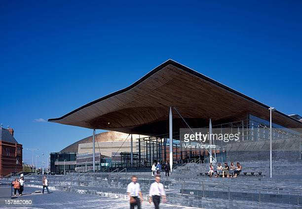 National Assembly For Wales Cardiff United Kingdom Architect Richard Rogers Partnership National Assembly For Wales Daytime Exterior View