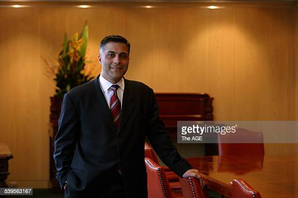NAB National Australia Bank new Australian CEO Ahmed Fahour 11 August 2004 THE AGE Picture by NICOLE EMANUEL