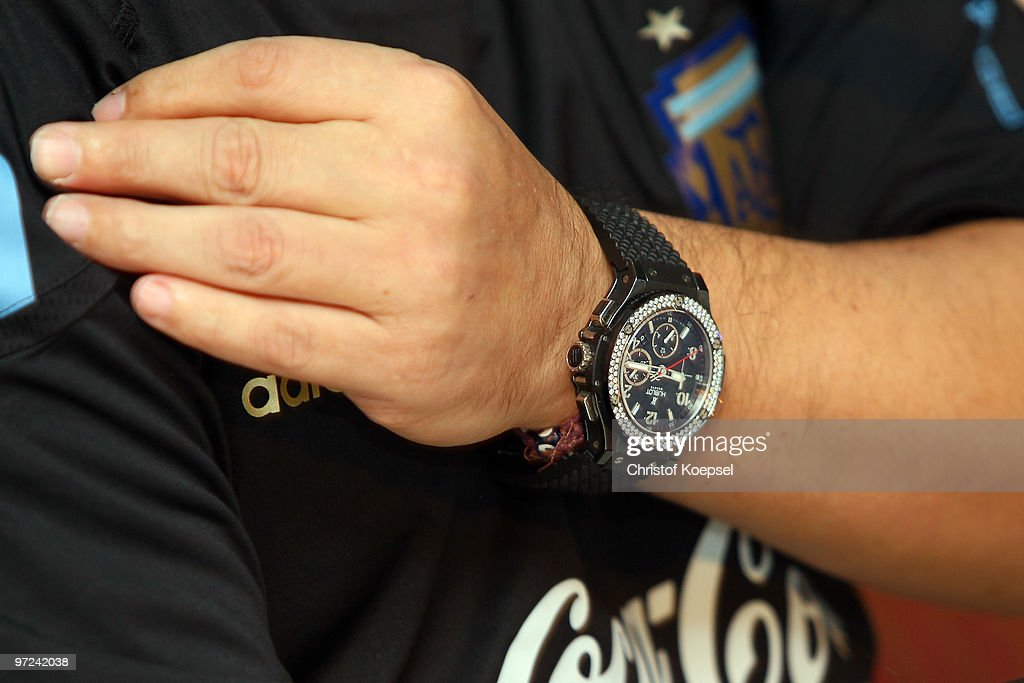 National coach Diego Maradona attends the Argentina National team press conference on March 1, 2010 in Munich, Germany.