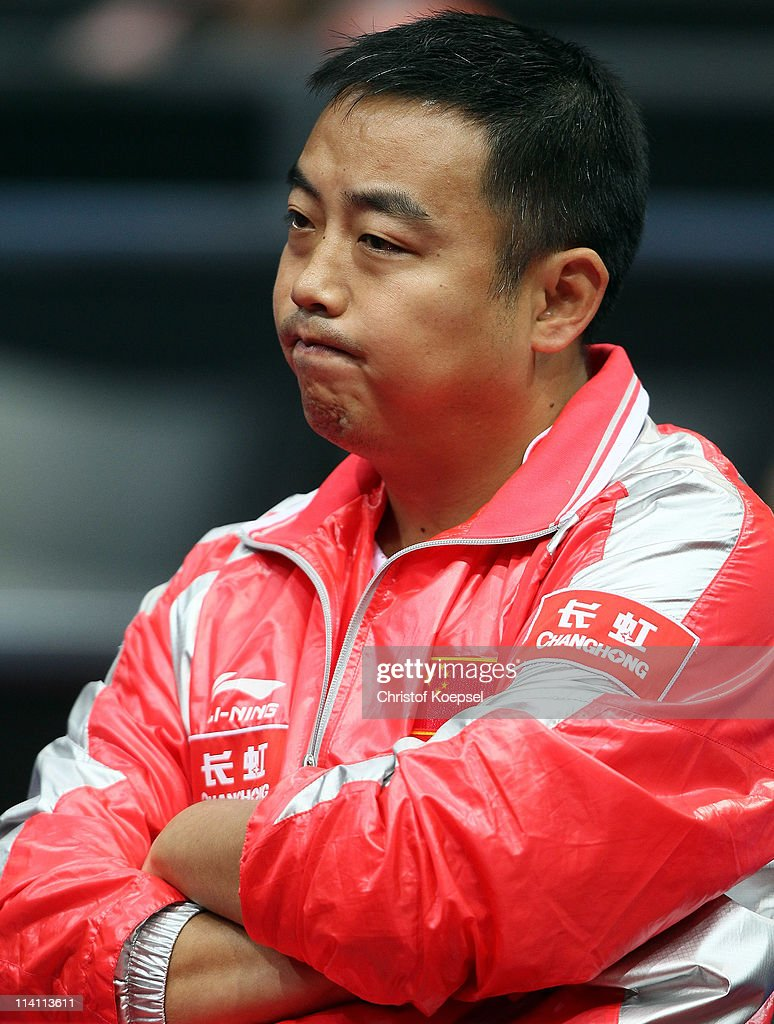 National coach <a gi-track='captionPersonalityLinkClicked' href=/galleries/search?phrase=Liu+Guoliang&family=editorial&specificpeople=655363 ng-click='$event.stopPropagation()'>Liu Guoliang</a> of China looks on during the second round Men's Single match between and during the World Table Tennis Championships at Ahoy Arena on May 11, 2011 in Rotterdam, Netherlands.
