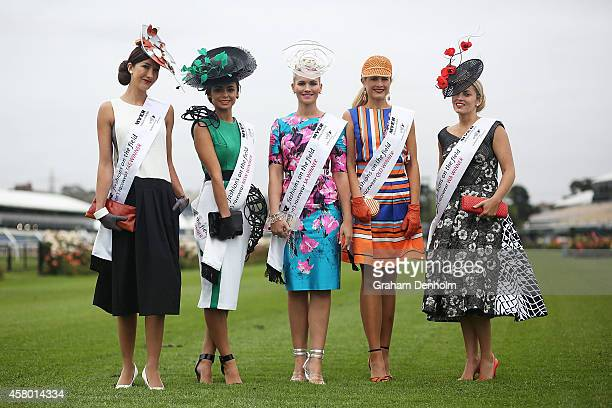 2014 National Competition Interstate Finalists Brooke Strahan Shannon Dennett Michelle Boyes Stephanie Martin and Nikki Gogan pose at the Myer...