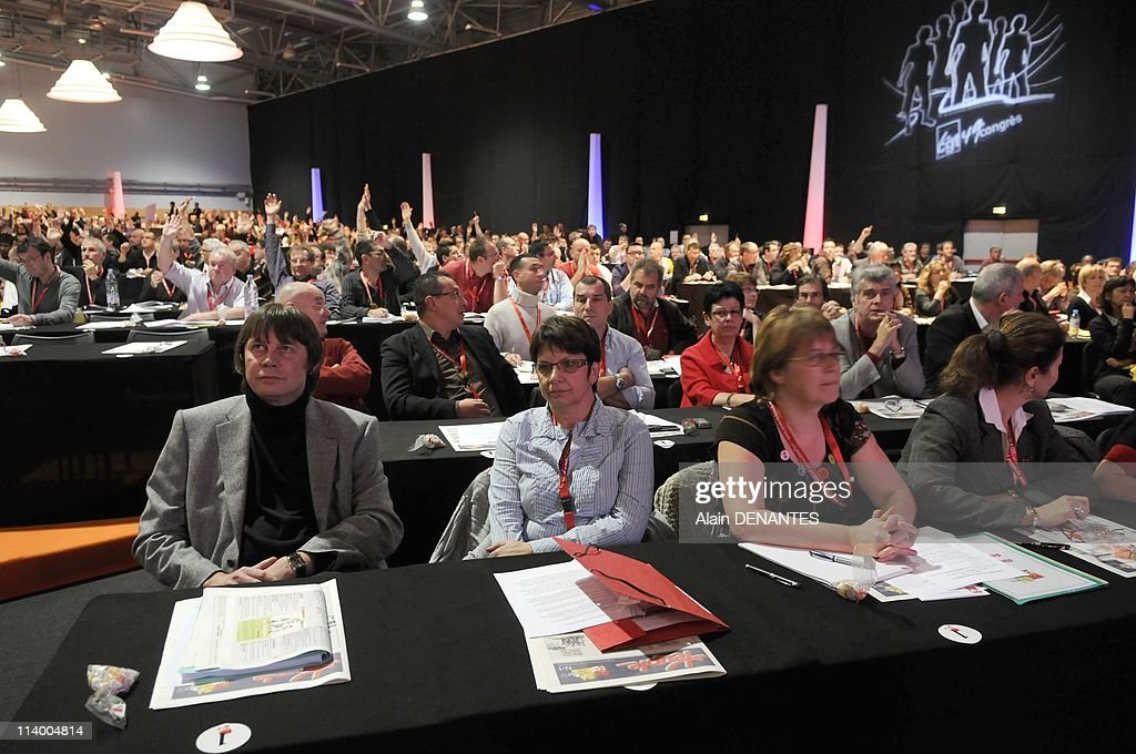 National congress of the syndicate CGT In Nantes France On December 07 2009Fourty ninth national congress of the syndicate CGT at forefront Bernard...
