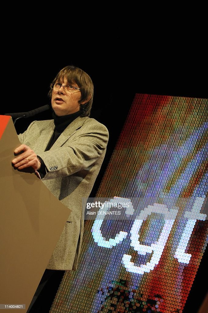 National congress of the syndicate CGT In Nantes France On December 07 2009Fourty ninth national congress of the syndicate CGT speech of Bernard...