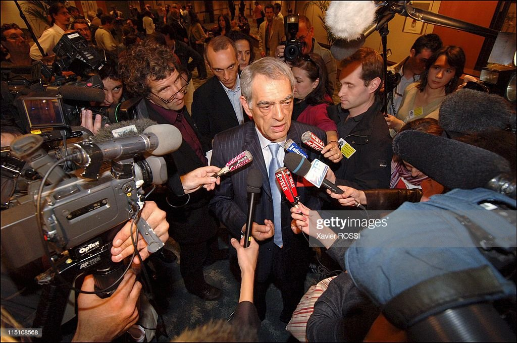 National Council of the Socialist Party at the left Forum Bank in Paris, France on June 04, 2005 - <a gi-track='captionPersonalityLinkClicked' href=/galleries/search?phrase=Henri+Emmanuelli&family=editorial&specificpeople=554955 ng-click='$event.stopPropagation()'>Henri Emmanuelli</a>.