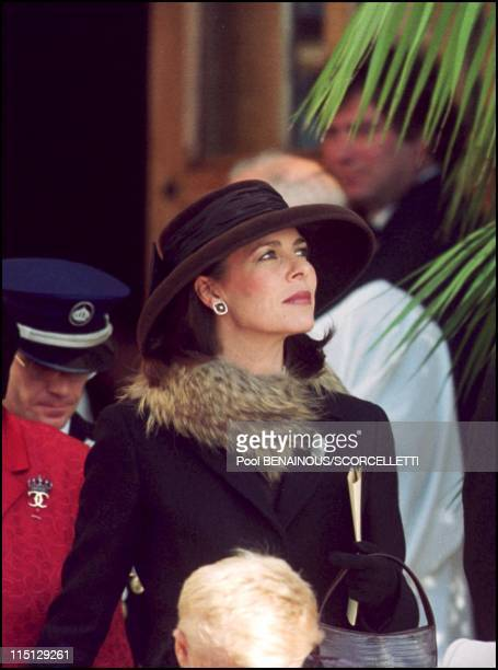 National day in Monaco in Monaco City Monaco on November 19 2000 Caroline leaves Ste Devote church after the mass