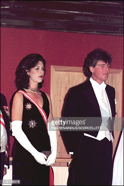 National day in Monaco Tribute to Rainier III at Monte Carlo opera in Monaco City Monaco on November 19 2000 Caroline and Ernst August