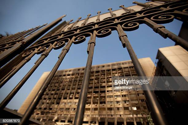 National Democratic Party Headquarters, burned, Cairo, Egypt