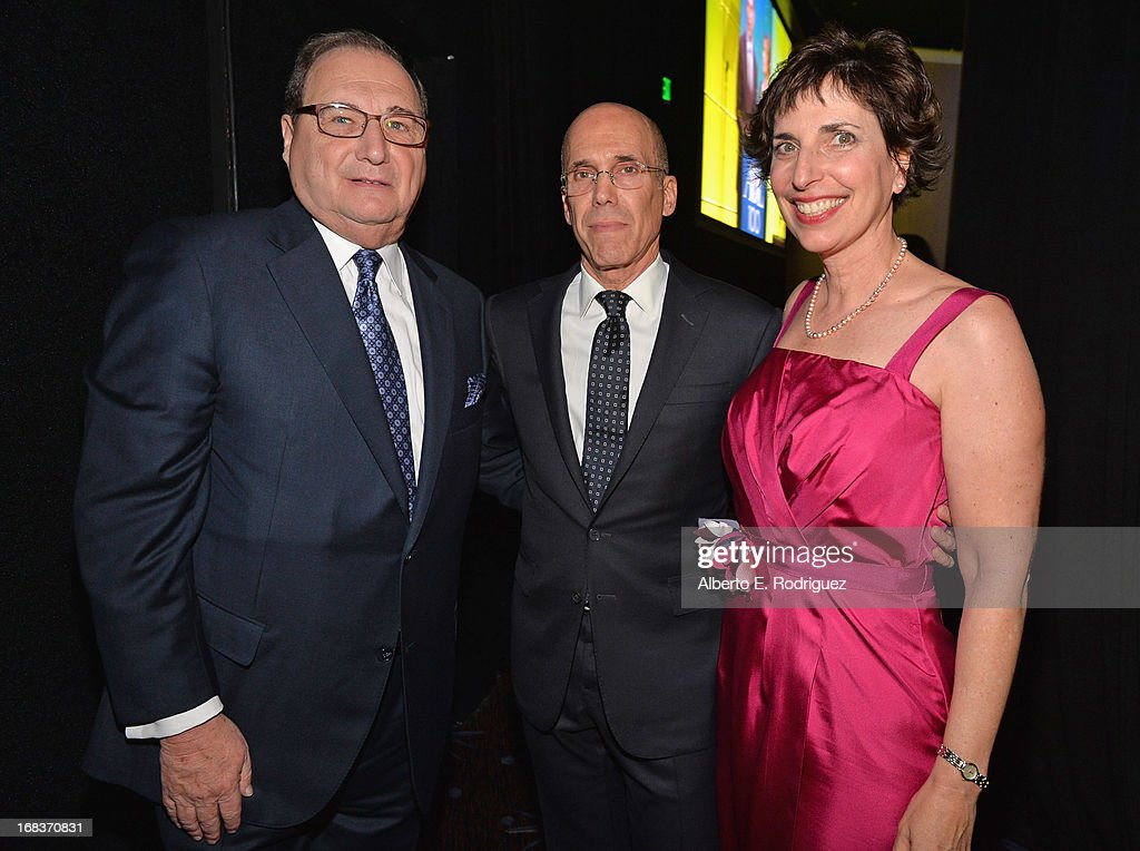 National Director Abraham Foxman, Dreamworks Animation CEO <a gi-track='captionPersonalityLinkClicked' href=/galleries/search?phrase=Jeffrey+Katzenberg&family=editorial&specificpeople=171496 ng-click='$event.stopPropagation()'>Jeffrey Katzenberg</a> and ADL Regional Director Amanda Susskind attend the Anti-Defamation League's Centennial Entertainment Industry Award Dinner at The Beverly Hilton Hotel on May 8, 2013 in Beverly Hills, California.
