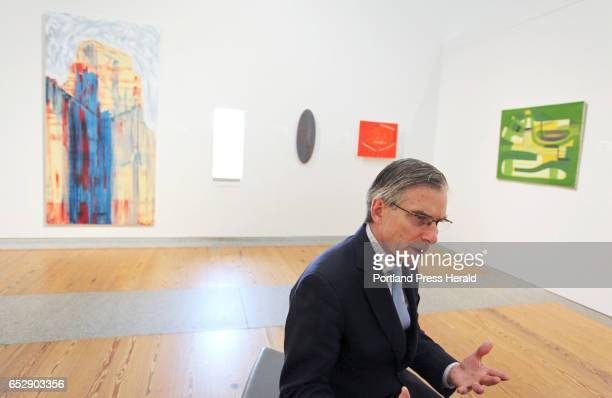 National Endowment for the Humanities chairman William 'Bro' Adams tours the Portland Museum of Art