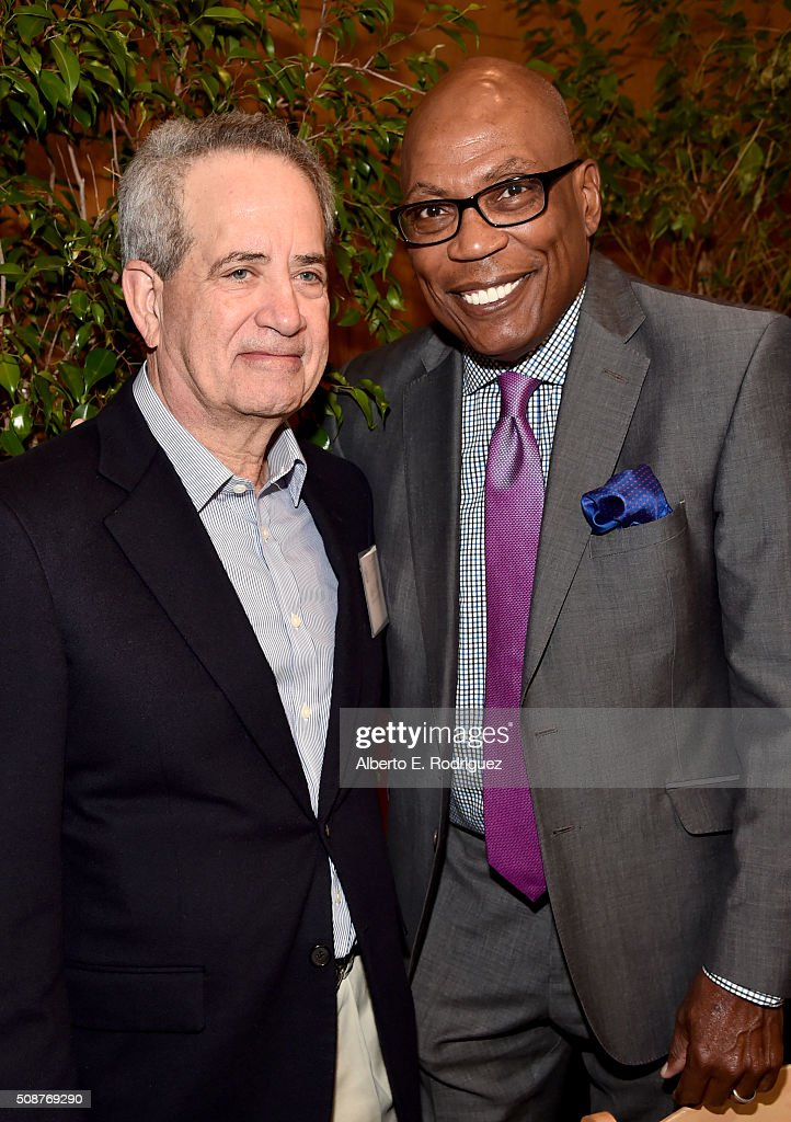 National Executive Director Jay D. Roth (L) and DGA President <a gi-track='captionPersonalityLinkClicked' href=/galleries/search?phrase=Paris+Barclay&family=editorial&specificpeople=792316 ng-click='$event.stopPropagation()'>Paris Barclay</a> attend the 68th Annual Directors Guild Of America Awards Feature Film Symposium at Directors Guild of America on February 6, 2016 in Los Angeles, California.