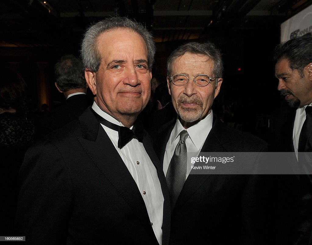 National Executive Director Jay D. Roth (L) and Walt Disney Animation Studios & Pixar Animation Studios President Ed Catmull attend the 65th Annual Directors Guild Of America Awards at Ray Dolby Ballroom at Hollywood & Highland on February 2, 2013 in Los Angeles, California.
