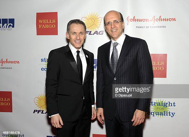 National Executive Director Jody M Huckaby and Jorge Mesquita attend the 7th Annual PFLAG National Straight For Equality Awards Gala at The New York...