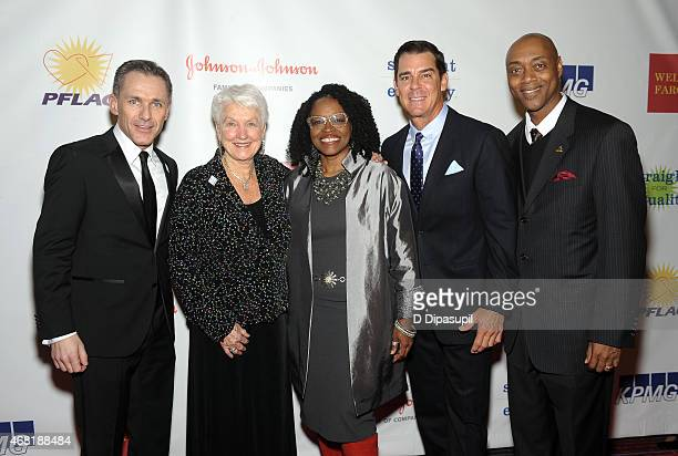 National Executive Director Jody M Huckaby National PFLAG President Jean Hodges and MLB Ambassador for Inclusion Billy Bean attend the 7th Annual...