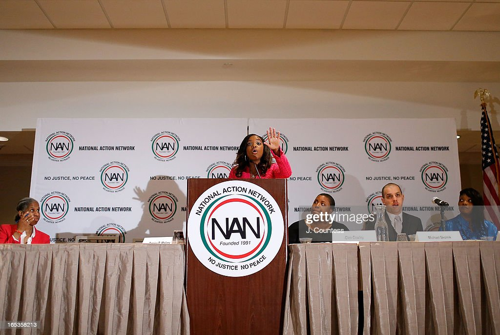 National Executive Director of the National Action Network Tamika D. Mallory moderates the panal 'Gun Violence: Addressing Real Reform' during the 2013 NAN National Convention Day 1 at New York Sheraton Hotel & Tower on April 3, 2013 in New York City.