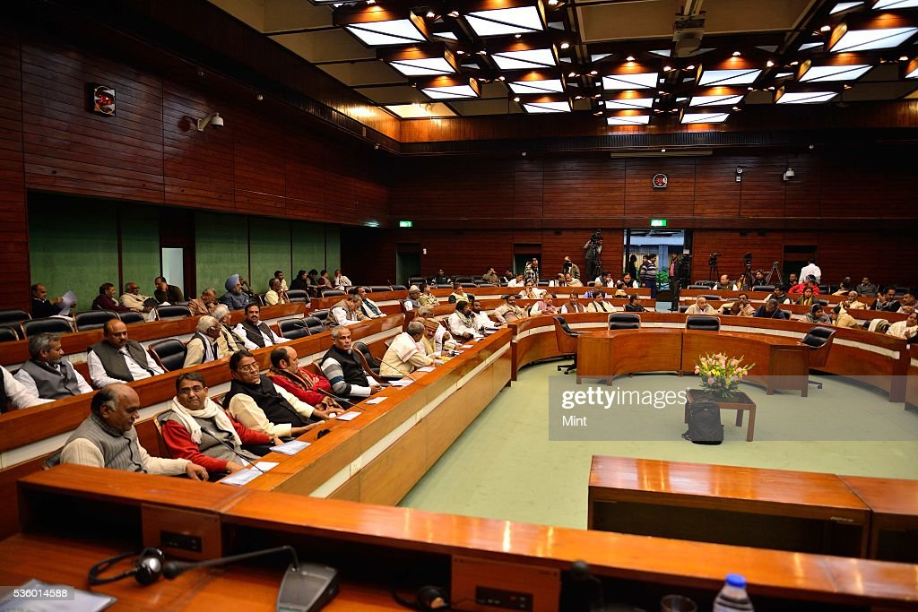 National Executive Meeting of Janata Dal-United (JD-U) at Parliament Annexe on December 20, 2015 in New Delhi, India.