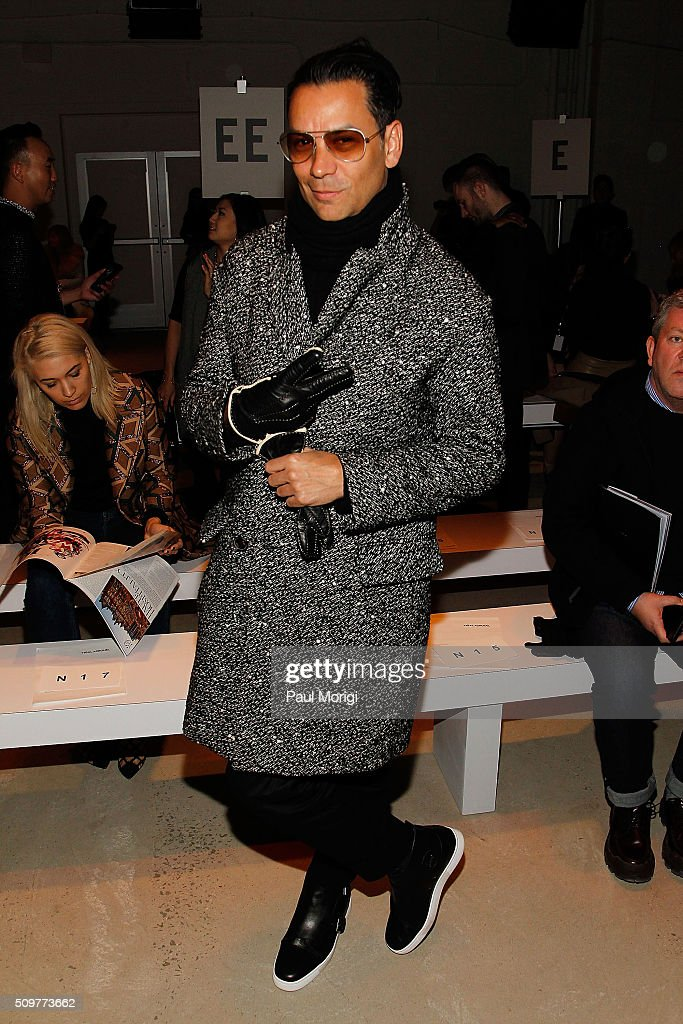 National Fashion Director at Modern Luxury, James Aguiar, attends the Yigal Azrouel Fall 2016 fashion show during New York Fashion Week: The Shows at The Gallery, Skylight at Clarkson Sq on February 12, 2016 in New York City.