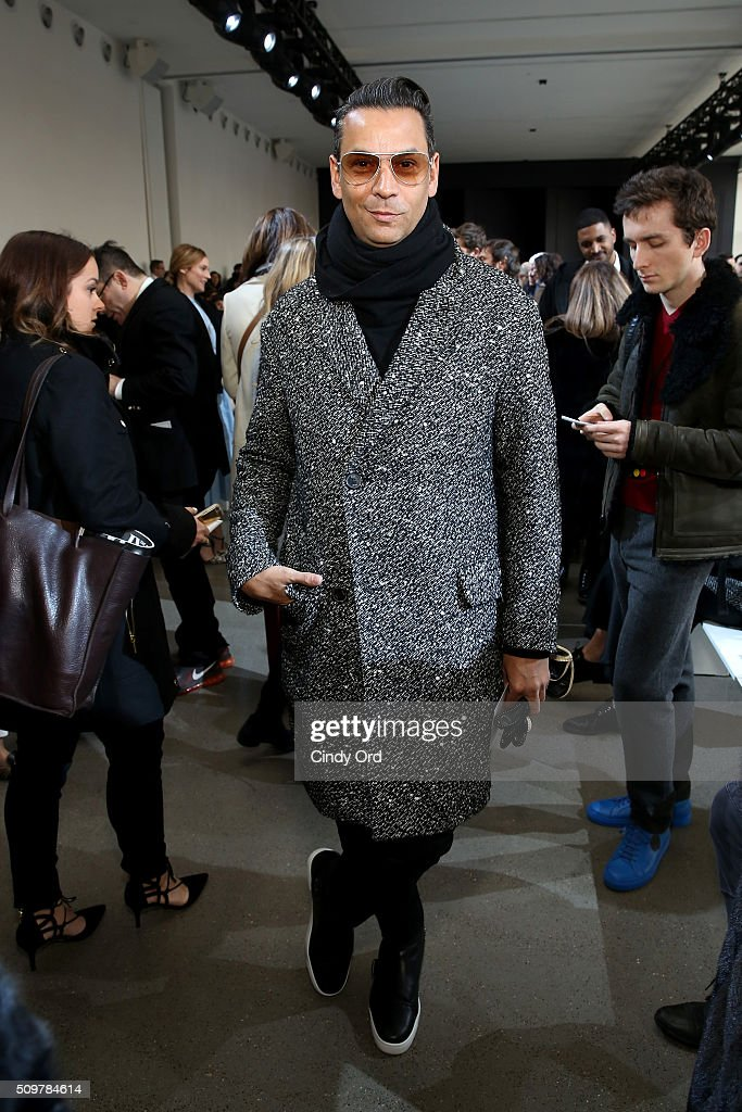 National Fashion Director at Modern Luxury James Aguiar attends the Jason Wu Fall 2016 fashion show during New York Fashion Week at Spring Studios on February 12, 2016 in New York City.