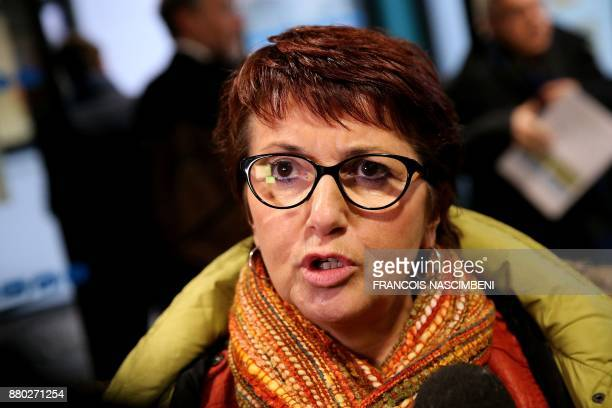 National Federation of Agricultural Holders' Unions President Christiane Lambert reacts to the decision by EU states to renew the licence of...