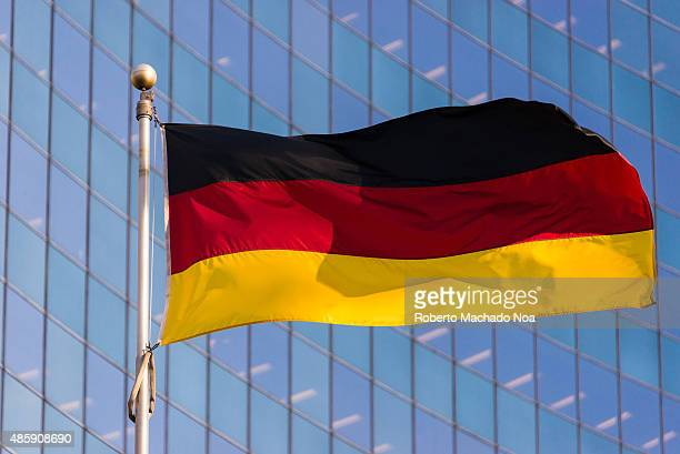 National flag of Germany It is a tricolor consisting of three equal horizontal bands displaying the national colors of Germany black red and gold