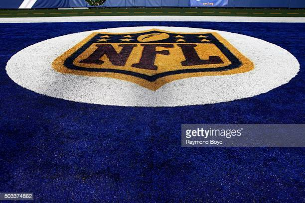 National Football League logo at Lucas Oil Stadium home of the Indianapolis Colts football team on December 22 2015 in Indianapolis Indiana