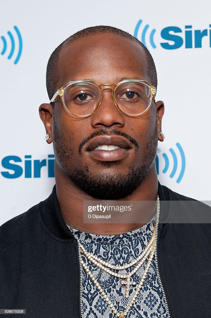 National Football League player <a gi-track='captionPersonalityLinkClicked' href=/galleries/search?phrase=Von+Miller&family=editorial&specificpeople=7125735 ng-click='$event.stopPropagation()'>Von Miller</a> visits SiriusXM Studios on February 11, 2016 in New York City.