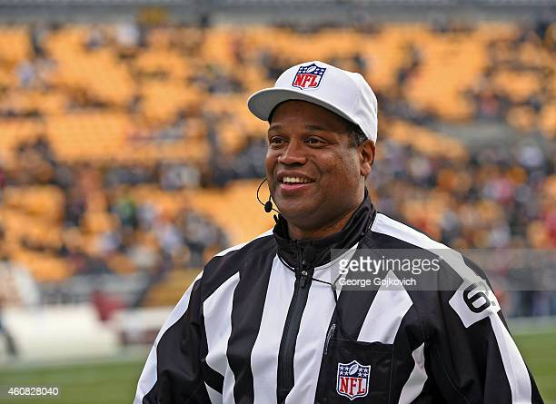 National Football League referee Ron Torbert looks on from the sideline before a game between the Kansas City Chiefs and Pittsburgh Steelers at Heinz...