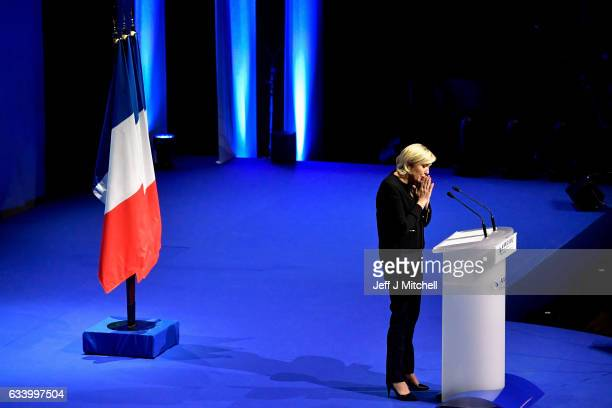 National Front Leader Marine Le Pen launches her presidential campaign on February 5 2017 in Lyon France One of the most unpredictable French...