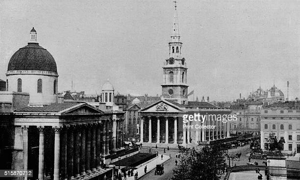 National Gallery and Church of St MartinintheFields Westminster London circa 1910 From London North of the Thames by Sir Walter Besant [Adam Charles...