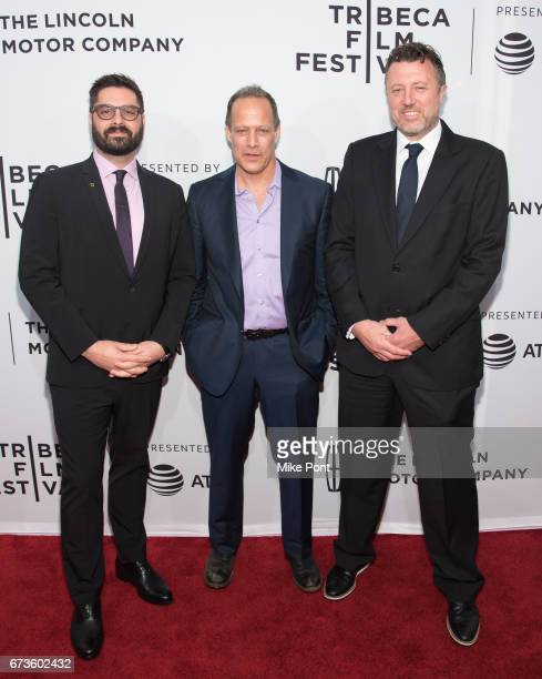 National Geographic Channel President of Original Programming Production Executive producer Tim Pastore and directors Sebastian Junger and Nick...