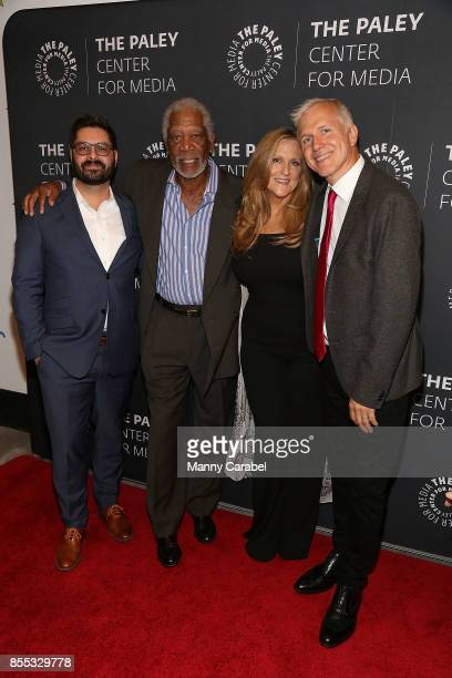 National Geographic Channel president of Original Programming Production Tim Pastore host/executive producer Morgan Freeman executive producer Lori...