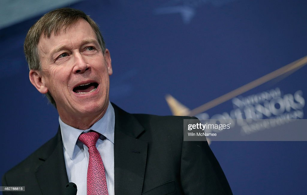National Governors Association vice chairman Gov. <a gi-track='captionPersonalityLinkClicked' href=/galleries/search?phrase=John+Hickenlooper&family=editorial&specificpeople=4104050 ng-click='$event.stopPropagation()'>John Hickenlooper</a> (D-CO) speaks at the National Press Club January 15, 2014 in Washington, DC. Gov. Hickenlooper delivered the annual 'State of the States' address prior to taking questions.