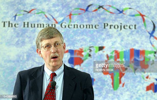 US National Human Genome Research Institute Director Francis Collins announces that a sixcountry consortium has successful drawn up a complete map of...